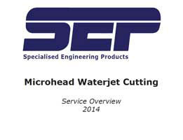 Microhead Waterjet Cutting Service Overview (2014)