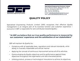 sep quality policy