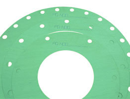fibre gasket with writing