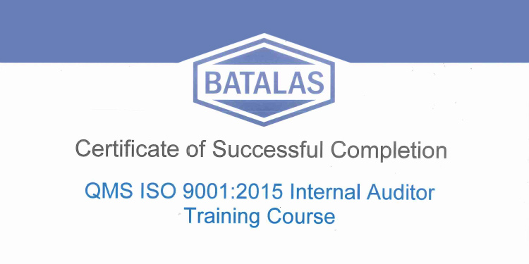 qms iso 9001:2015 internal auditor training course