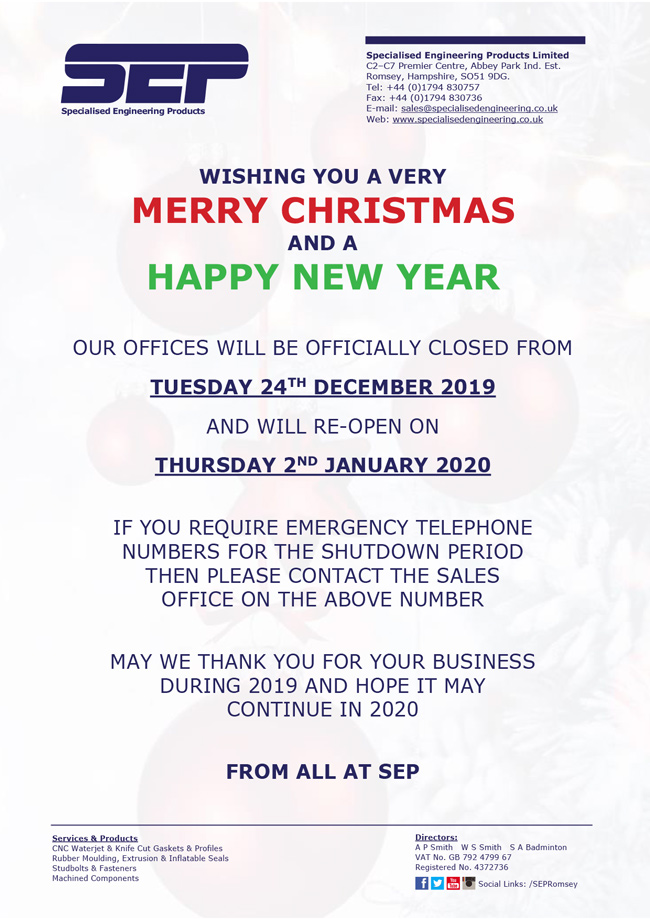 sep christmas notice 2019