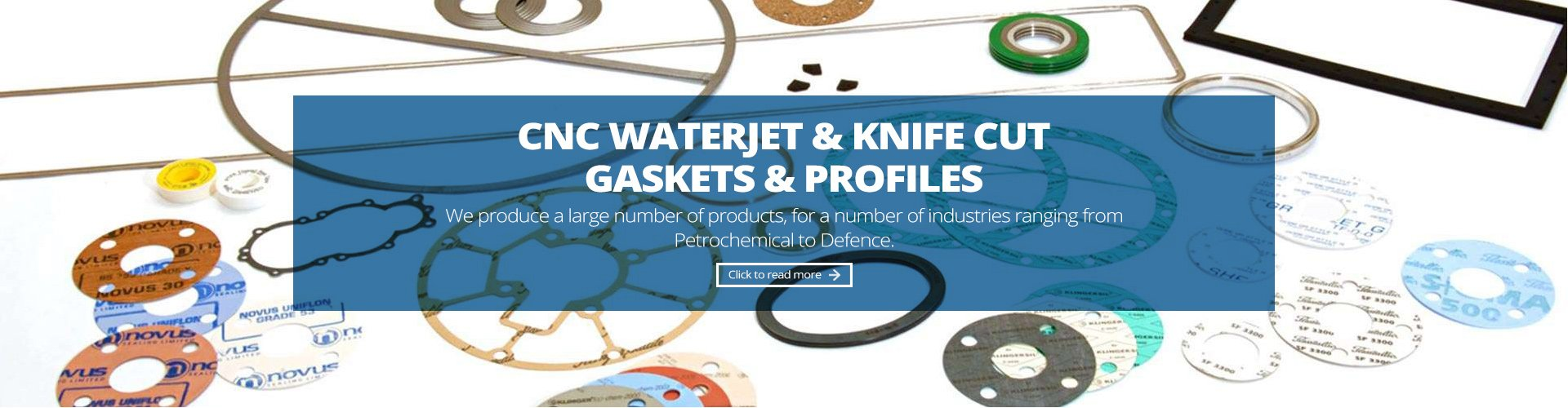 cnc waterjet and knife cut gaskets and profiles